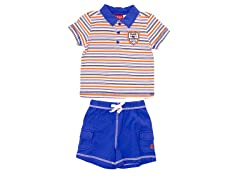 Blue 2-Piece Casual Short Set (3M-6M)