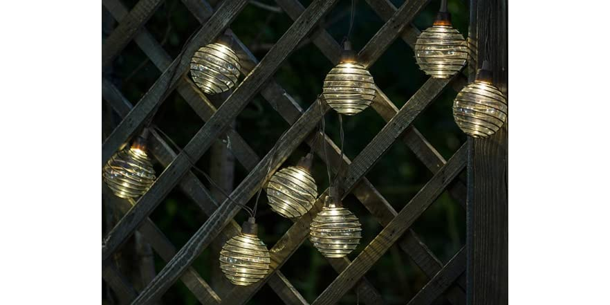 Glass Balls and Metal Wire String Lights
