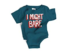 """I Might Barf"" Blue Bodysuit (6-12 mos)"