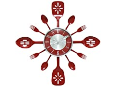 "Home Essentials Utensils 20"" Clock"