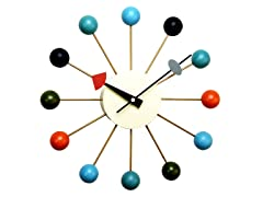 George Nelson Ball Clock: Multi-Colored
