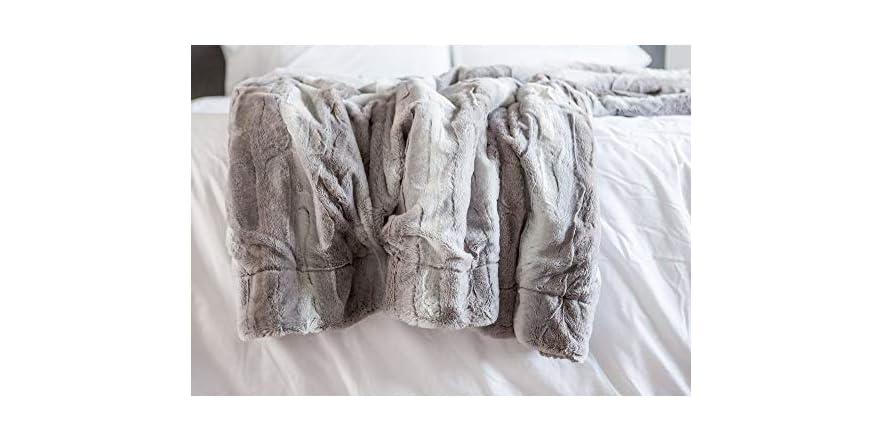 Chanasya Super Soft Fur Throw Blanket