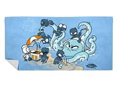 """""""Ninja At the Beach"""" Beach Towel"""