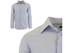 Mens Slim Fit Dress Shirt W Chest Pocket