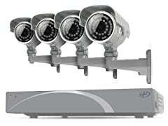 4CH 500GB DVR Kit w/ 4 x 600 TVL Cams
