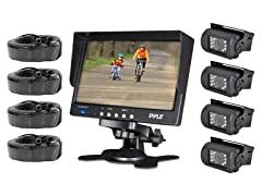 "4 Cam Backup Camera System with 7"" LCD"