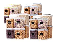 Vtopmart 8-Piece Food Storage Containers- Pick Color