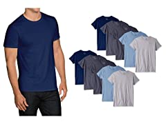 FOL Men's Tagless Crew Neck T-Shirt 10Pk