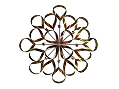 Metallic Ribbonz Floral Metal Wall Decor