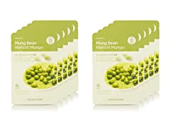 Real Nature Mung Bean Mask - 10 Pack