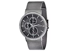Women's Stainless Steel Grey Dial Watch