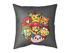 Retro Game Gang Medium Floor Pillow