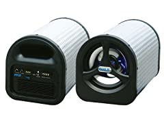 "8"" 250 Watt Amplified Subwoofer Tube"
