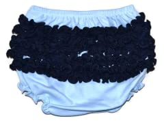 Ruffled Bloomer - Blue/Navy