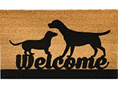Outdoor Mat - Welcome, Brown
