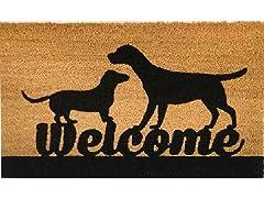 Outdoor Mat - Welcome, Brown