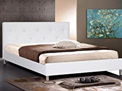 Barbara Platform Qn Bed White