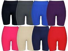 Nextex Women's Asstd Seamless Shorts 4Pk