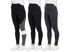 Women's Active Performance Leggings 3 Pk