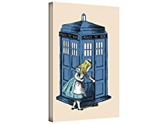 Through The Police Box Gallery Wrapped Canvas 2-Sizes