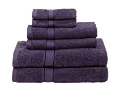 Pinzon Egyptian Cotton 725GSM 6Pc Towels-Plum