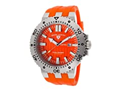 Challenger Watch, Orange / Silver
