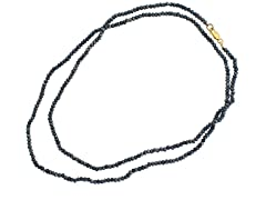 18k Plated Pyrite Bead Necklace