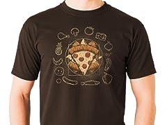 """Vitruvian Pizza"" Graphic Tee"