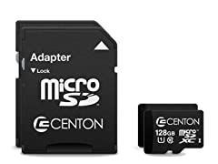 Centon 128GB Class 10 microSD Cards w/ Adapter - 2pk