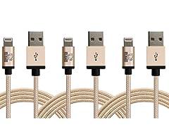 Rhino 3 Meter MFI Apple Lightning Cables - 3 Packs