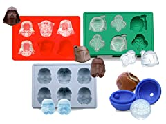 4pc Star Wars Ice Trays - 2 Styles!
