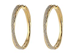 Michael Kors Pave CrossOver HoopEarrings