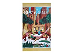 The New Yorker-Rooftop Girl Beach Towel