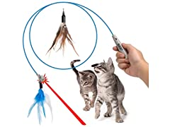 Cat Wand Toy Interactive Pet Laser Pointer