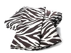 MicroFlannel Queen Set - Zebra