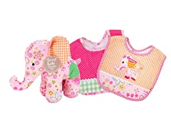 Sherbet Elephant Bib & Buddy Set