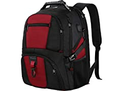 Matein TSA Travel Backpack, Red