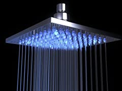 Oasis Stainless Steel Rain Shower Head with LED