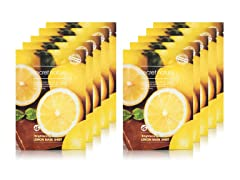 Lemon Facial Sheet Mask - 10 Pack