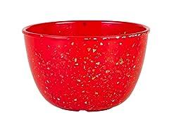 "Confetti Red Pub Bowls 5.125""/22oz S/6"
