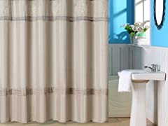 Radcliff Ebmroidered Shower Curtain