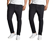 AG Men's Slim Fit Stretch Chinos 2-Pack