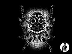 Sugar Skull Spider Jersey Zip Hoodie
