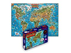 500 Piece Illustrated World Puzzle