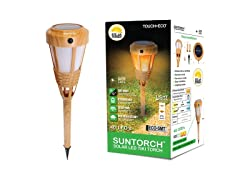 Solar Bamboo Multi-Setting Tiki Torch
