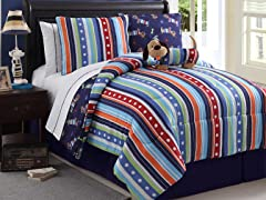 Reversible Bedding Set (Twin or Full) - Leo the Puppy