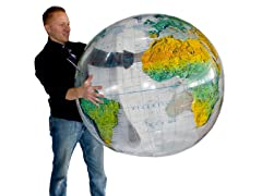 "36"" Topographical Clear Inflatable Globe"