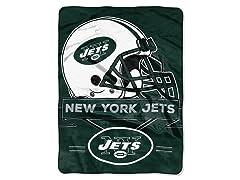 New York Jets Raschel Throw