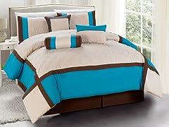 Odessa 7pc Comforter Set - Turquoise - 2 Sizes