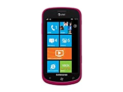 Amzer Luxe Argyle High Gloss TPU Soft Gel Skin Case for Samsung Focus I917 - Hot Pink